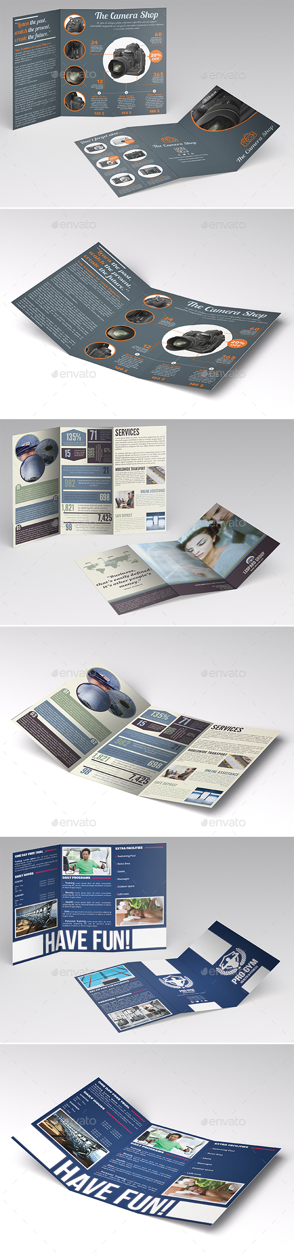 Trifold Brochures Bundle 2 - Catalogs Brochures