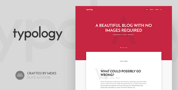 Typology – Text Based Minimal WordPress Blog Theme