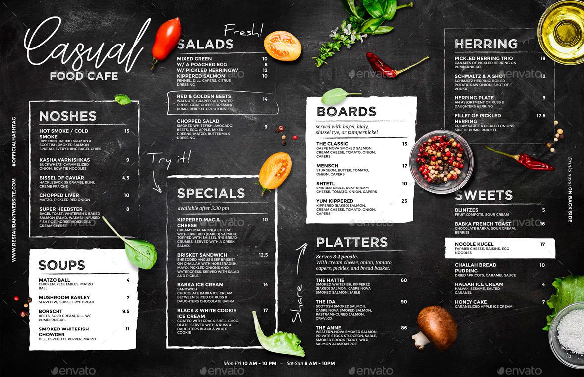 chalkboard cafe menu by bigweek