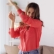 Happy Young Woman Dancing at Home 19 - VideoHive Item for Sale