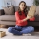 Woman with Christmas Gifts Video Blogging at Home 5 - VideoHive Item for Sale