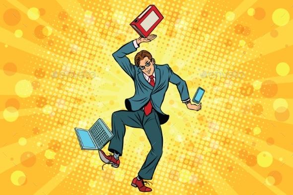 Businessman Juggler Clerk - People Characters