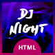 DJ Night - Event, DJ, Party, Music Club HTML Template - ThemeForest Item for Sale