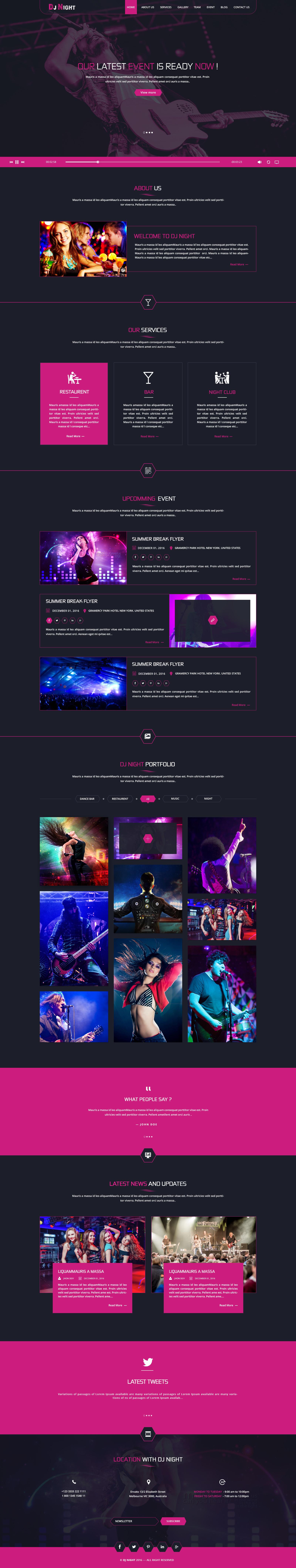 DJ Night - Event, DJ, Party, Music Club HTML Template by Teqbees ...