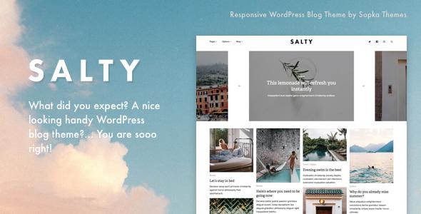 Salty - Responsive WordPress Blog Theme - Personal Blog / Magazine