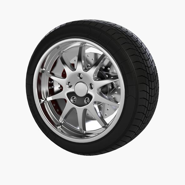 car wheel - 3DOcean Item for Sale