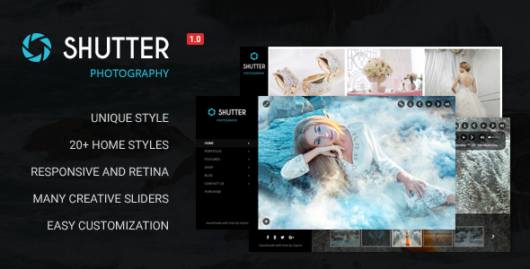 Shutter – Portfolio and Photography Powerful WordPress Theme