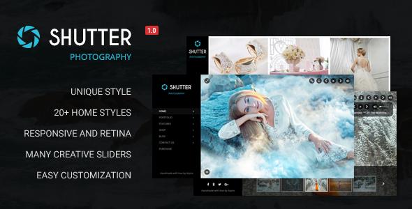 Shutter – Portfolio and Photography Powerful WordPress Theme