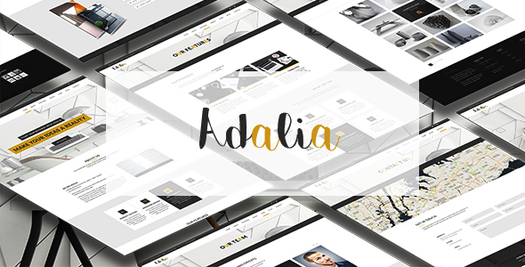 Adalia – Multi & One Pages Modern PSD Template