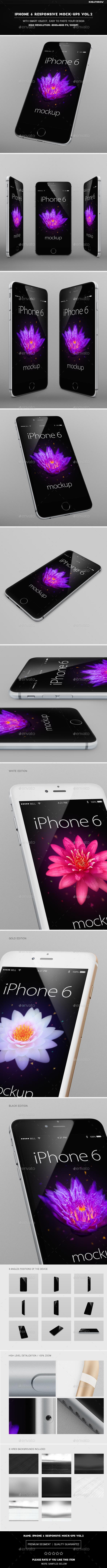 IPhone 6 Responsive Mock-Ups Vol.2 - Mobile Displays