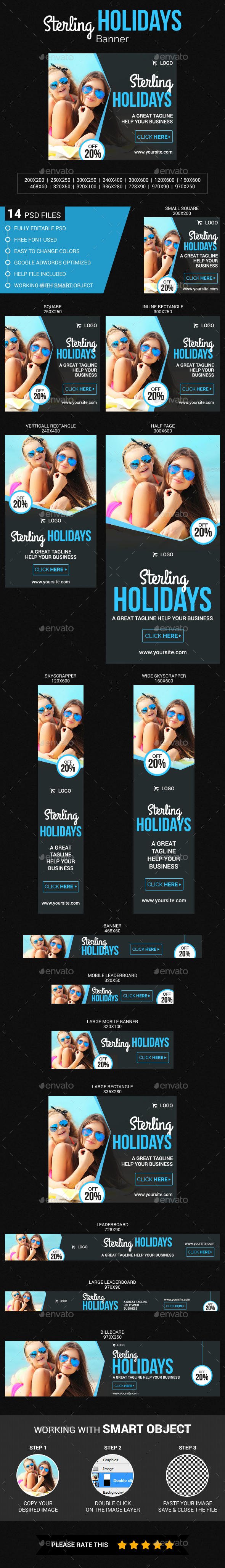 Sterling Holidays Banner - Banners & Ads Web Elements