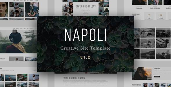 Napoli – Modern Photography Portfolio Responsive HTML Template