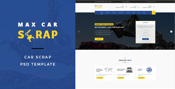 Car Scrap – PSD Template