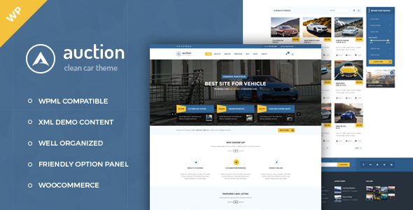 Auction – Car Dealer WordPress Theme