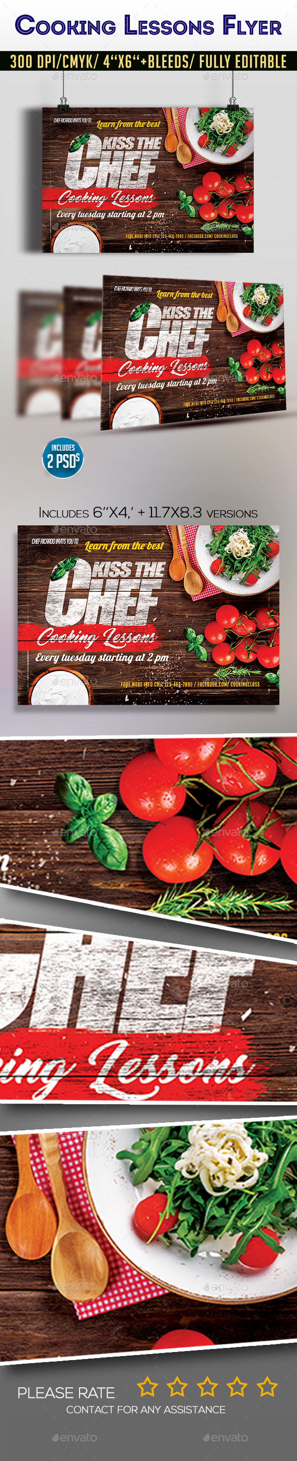 Cooking Lessons Flyer - Restaurant Flyers