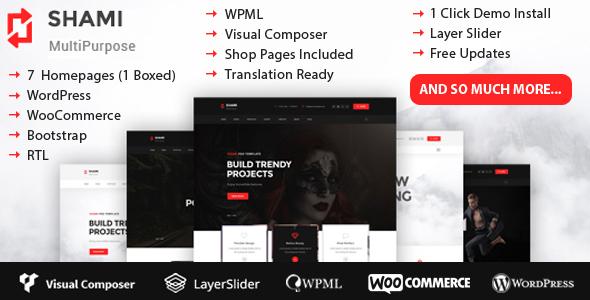 SHAMI - business, creative agency, portfolio, creative Multipurpose WordPress Theme RTL - Creative WordPress