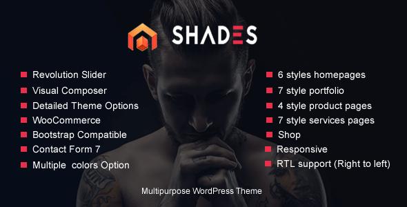 Portfolio Shades - business, creative agency, creative Multipurpose WordPress Theme RTL