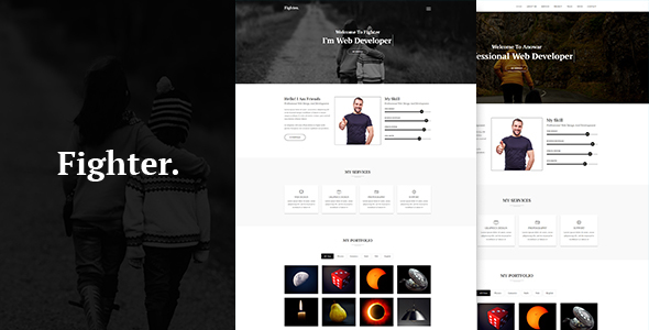 Fighter – One Page Personal HTML5  Template