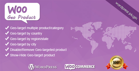 WooGeoProduct WooCommerce Wordpress Plugin - CodeCanyon Item for Sale