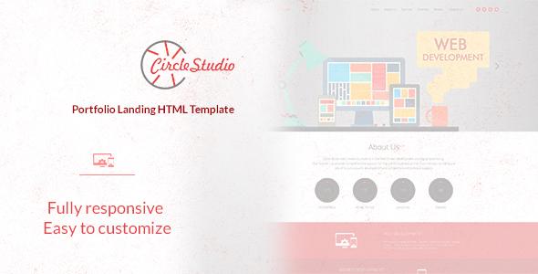 Circle Studio – Portfolio Landing HTML Template
