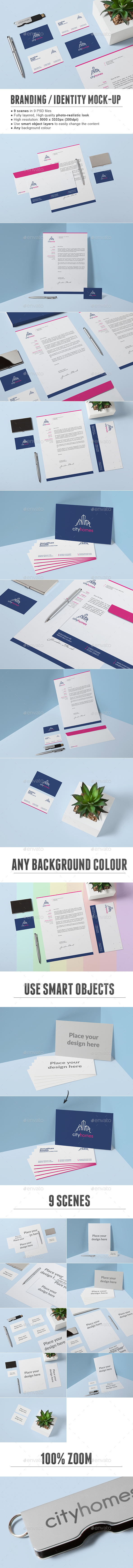 Branding / Identity Mock-up - Print Product Mock-Ups