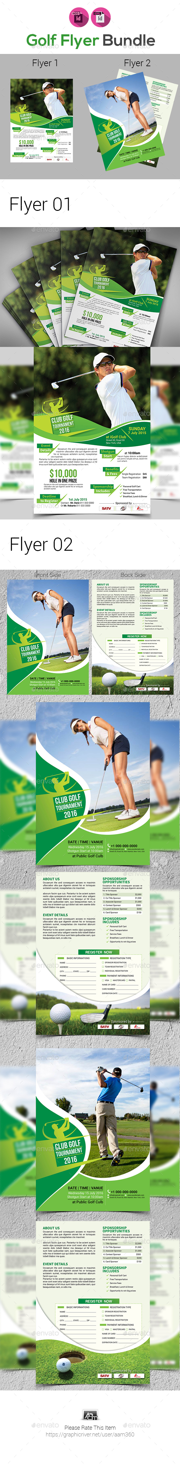 Golf Flyers Bundle - Sports Events