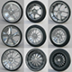 10 high detailed Car Wheels - 3DOcean Item for Sale