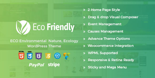 Eco Friendly Environmental WordPress – Eco Nature NGO Theme