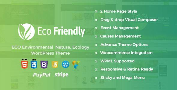 Eco Friendly Environmental WordPress – Eco Nature NGO Theme