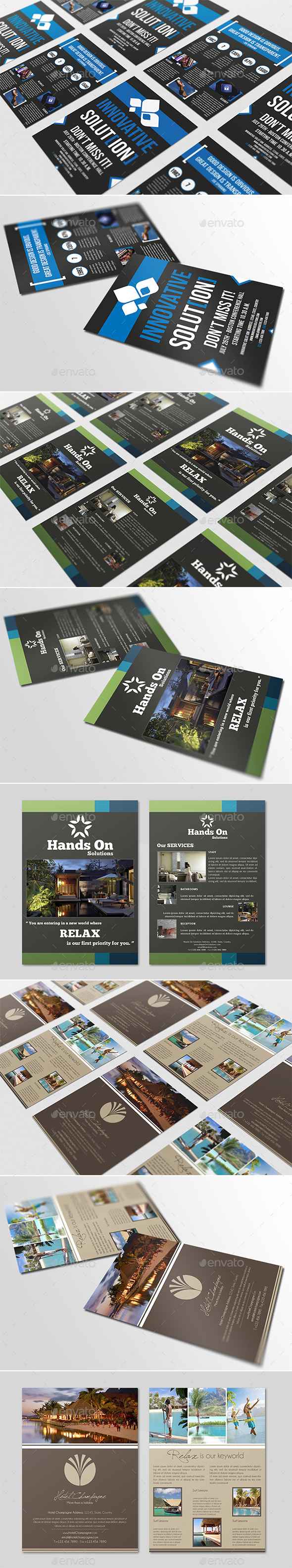 Modern Flyers Bundle Pack - Corporate Flyers