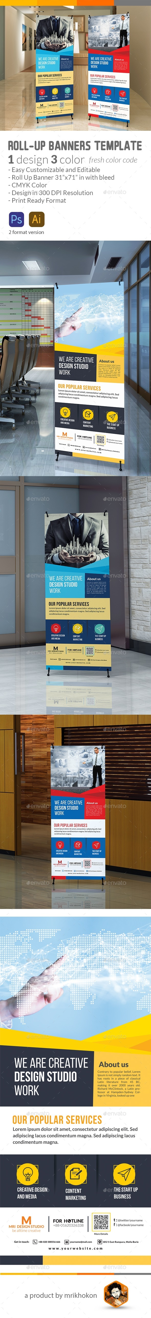 Corporat Roll up Banner - Signage Print Templates