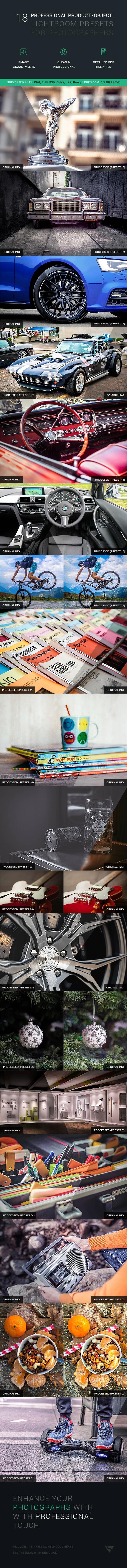 18 Professional Object/Product Lightroom Presets - Portrait Lightroom Presets