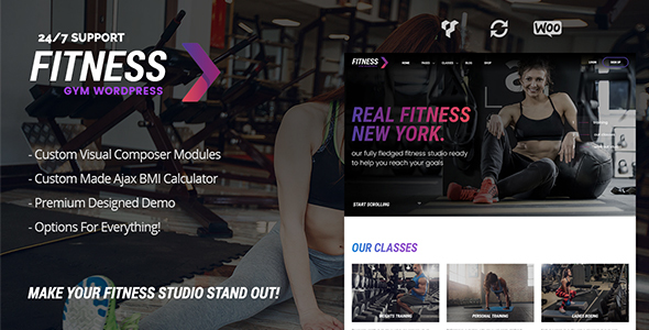 Fitness Gym – Fitness WordPress Theme for Fitness Clubs, Gyms & Fitness Studios