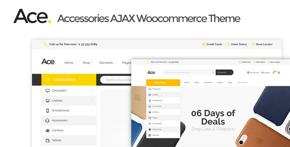 Ace – Accessories AJAX Woocommerce Theme