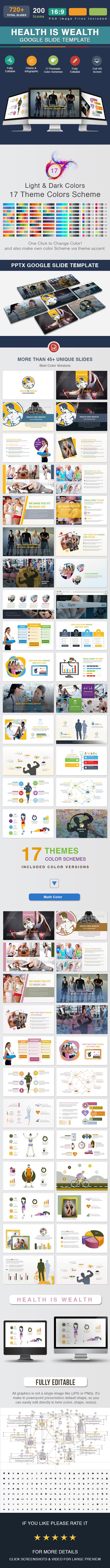 Health Is Wealth Google Slide - Google Slides Presentation Templates