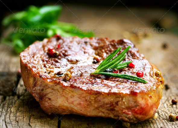 Grilled Steak - Stock Photo - Images