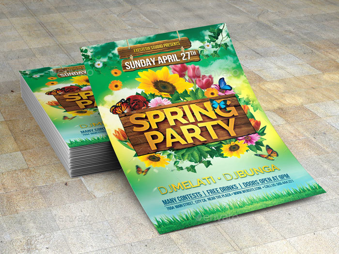 Spring Party Flyer By Eyestetixstudio | Graphicriver