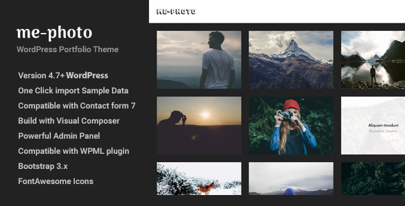 Mephoto – Photography & Portfolio WordPress Theme