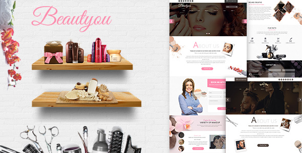 Beautyou - Hair Salon Barber Shop - PSD Templates