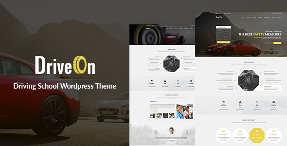 DriveOn – Driving School WordPress Theme - Education WordPress