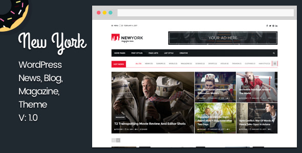 New York 51 – Responsive Blog WordPress Theme