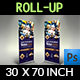 Cafe Signage Roll-Up Banner Vol.4