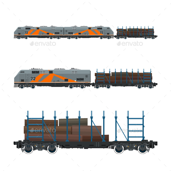 Locomotive with Railway Platform - Industries Business