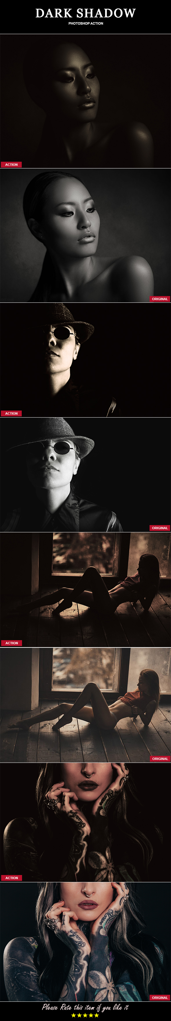 Dark Shadow Photoshop Action - Photo Effects Actions
