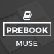 Prebook - eBook Landing Page Muse Template - ThemeForest Item for Sale