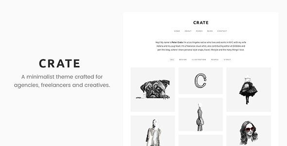 Crate – Minimalist WordPress Theme