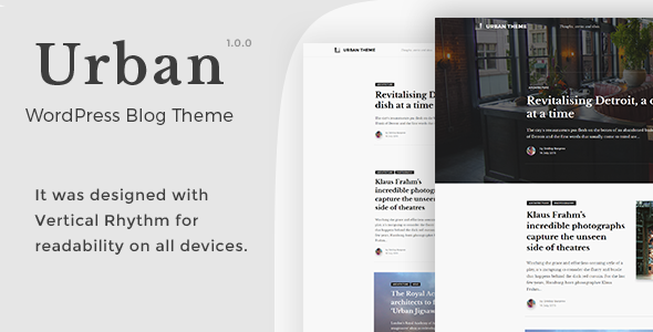 Urban – WordPress Blog Theme
