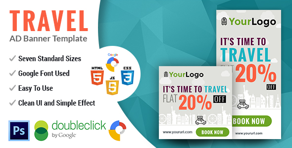 PathWay Travel | Animated html5 Google web Banner - CodeCanyon Item for Sale