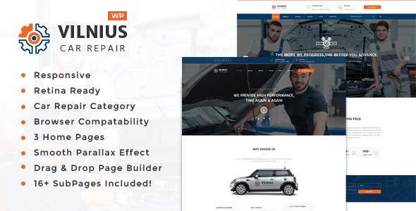 Vilnius || Auto Mechanic & Car Repair  WordPress Theme
