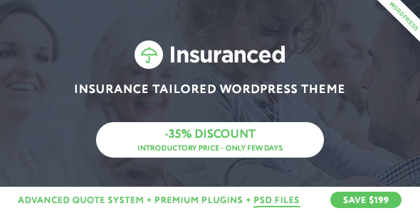 Insuranced –  Insurance WordPress Theme